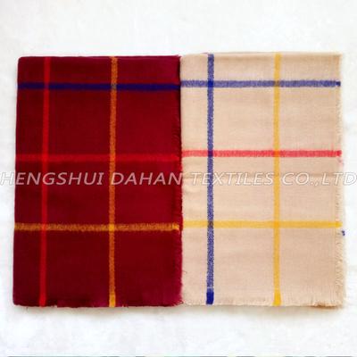 100% acrylic grid scarf shawl.DH10