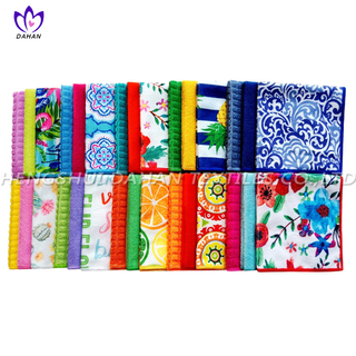 MC106 Microfiber plain colour/printing kitchen towel-10 patten series.