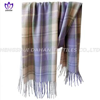 100% acrylic grid scarf shawl.DH12
