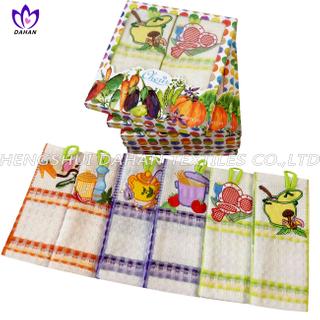 EMQ19 100%cotton embroidery tea towel,kitchen towel.