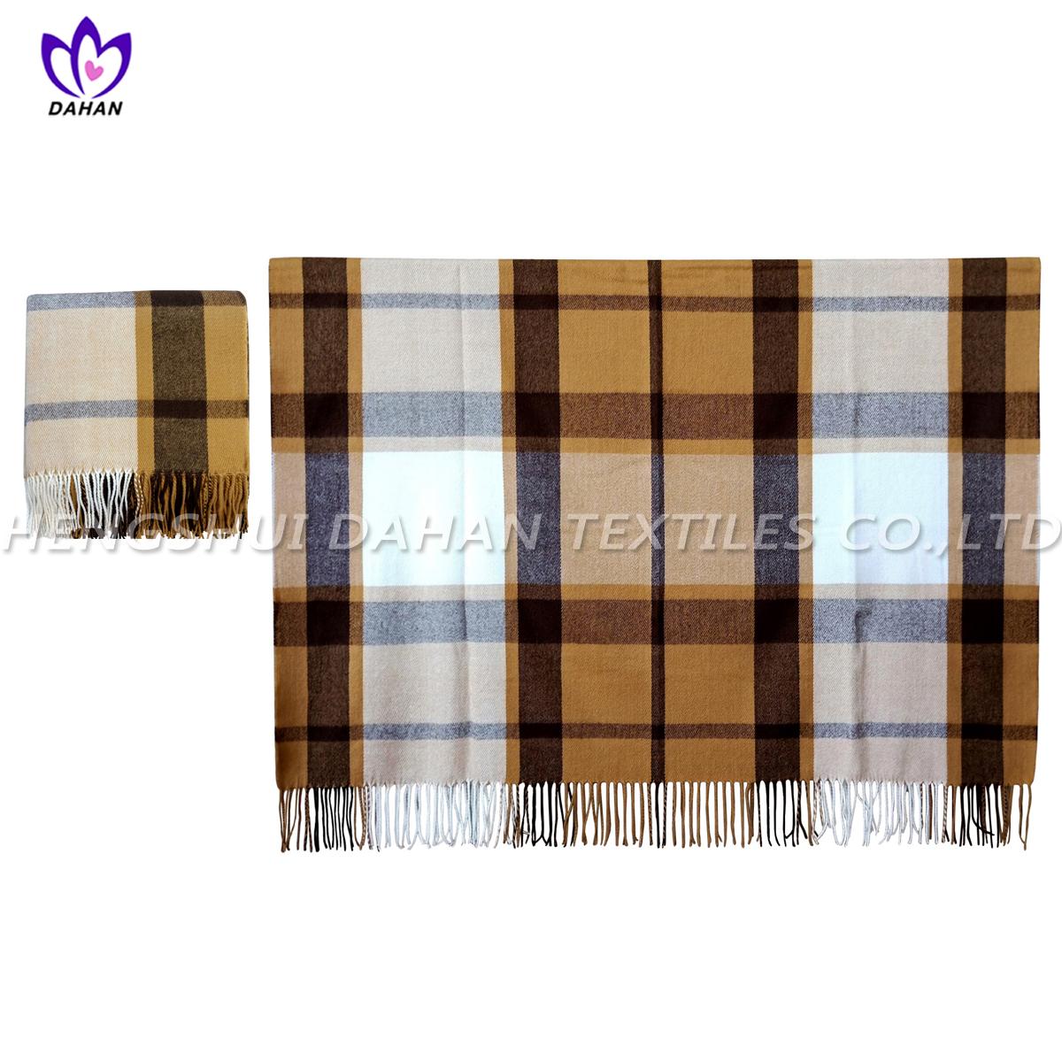 100%acrylic tassels scarf, blanket. BK24