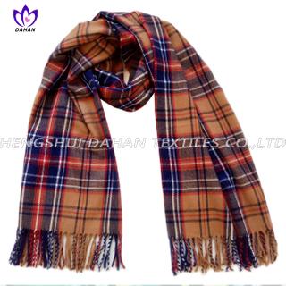 100% acrylic grid scarf shawl.DH06