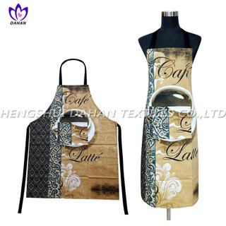 AGP75 100%cotton twill printing waterproof apron.