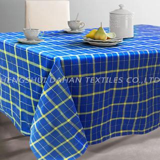 TP01~04 polycotton yarn dyed grid table cloth.