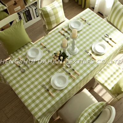 TP09 100%cotton yarn dyed grid table cloth.