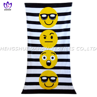 LL96 100%cotton reactive printing beach towel