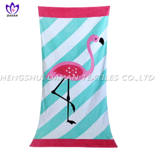 LL100 100%cotton reactive printing beach towel