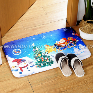 Flannel sponge printing ground mat-Christmas series. DHMF2