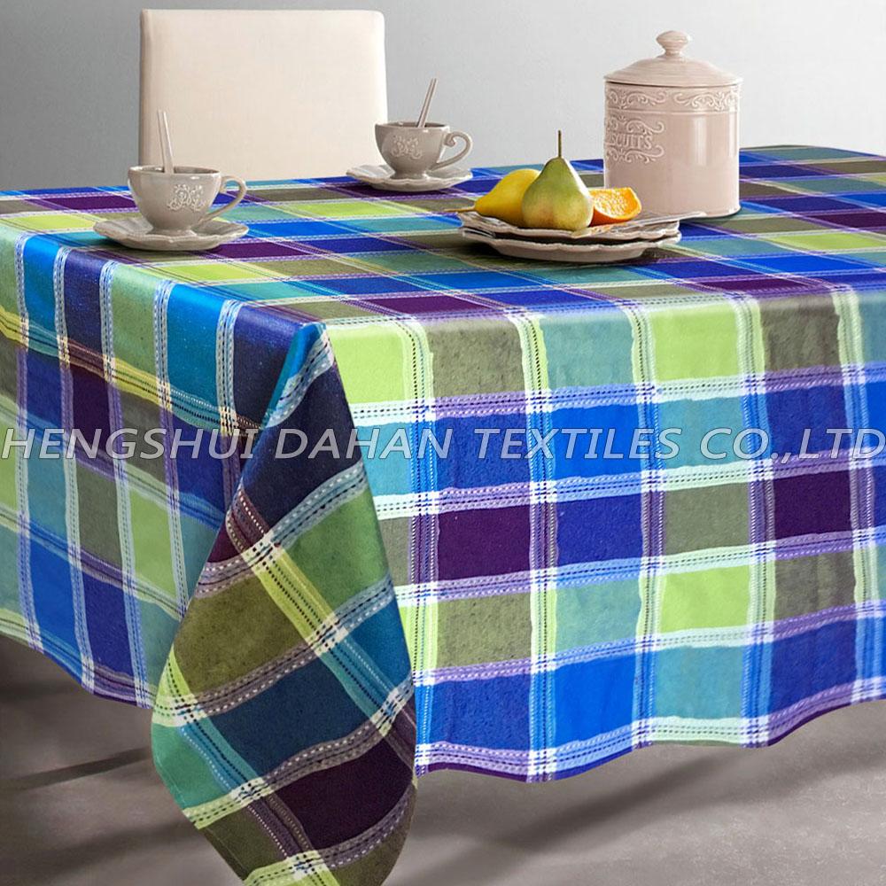 TP05~08 polycotton yarn dyed grid table cloth.