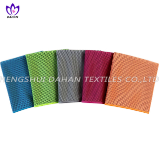 MC89 100%polyester plain colour microfiber cooling towel