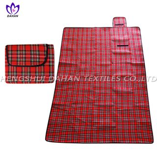 Picnic blanket waterproof picnic mat with yarn dyed.PC09