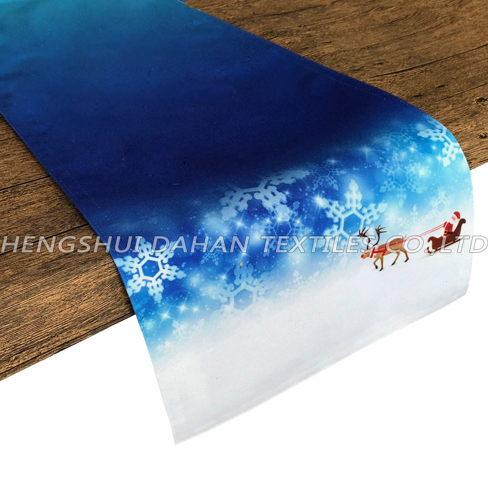 PBT01~04 Polyester fabric digital printing double-layer table flag.