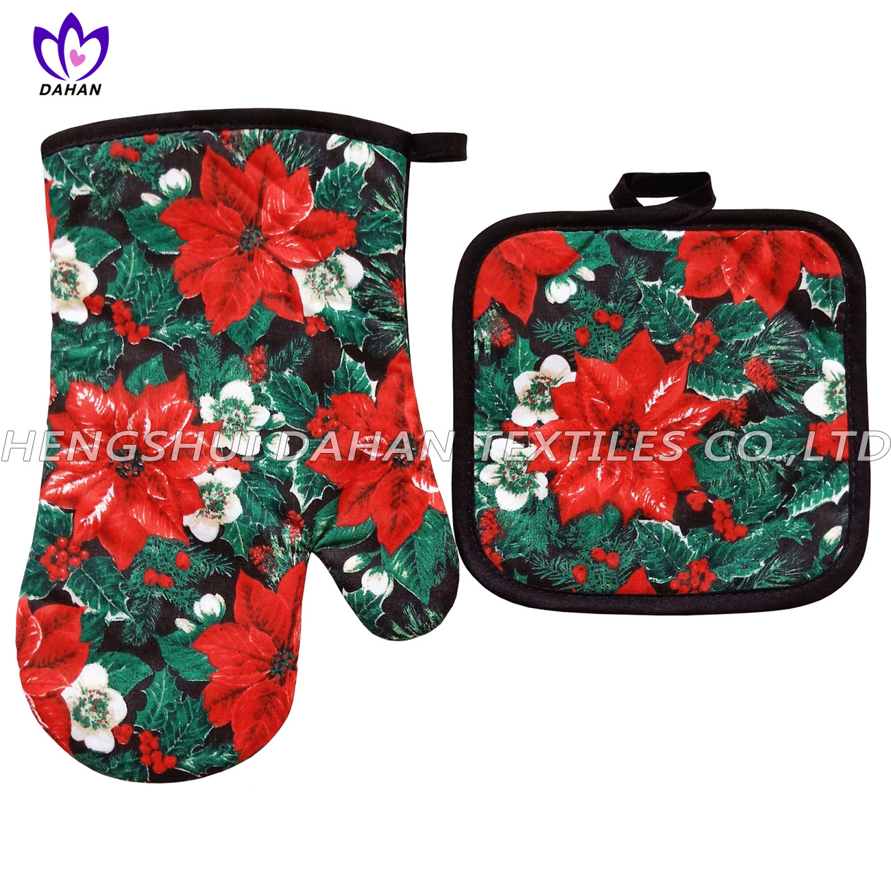346F~3 printing glove,pot pad, microfiber towel 3pack--Christmas series