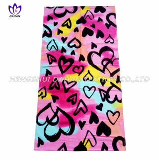 LL20 100%cotton reactive printing beach towel
