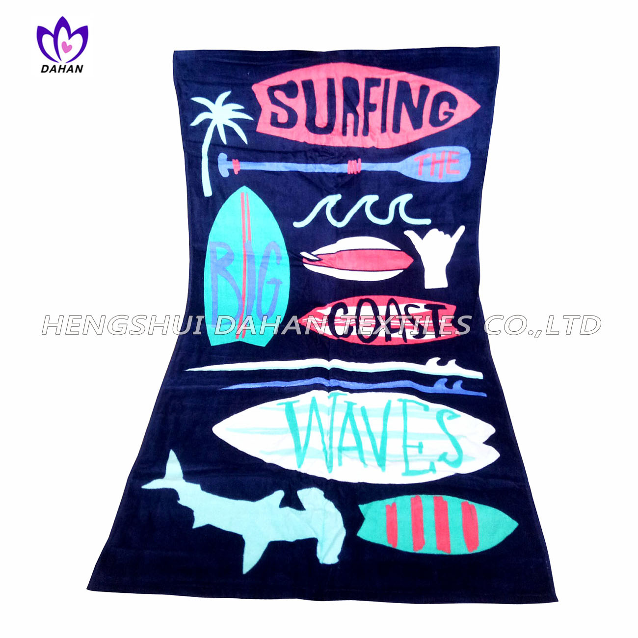 LL21 100%cotton reactive printing beach towel