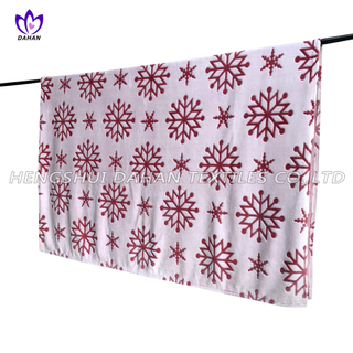 ZC13 Christmas Series Snow Flower Printed Flannel Blanket
