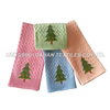 100%cotton embroidery tea towel ,kitchen towel -Chrismas Tree set ES0812