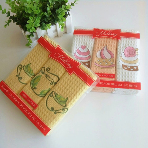 100%cotton embroidery tea towel ,kitchen towel EM1