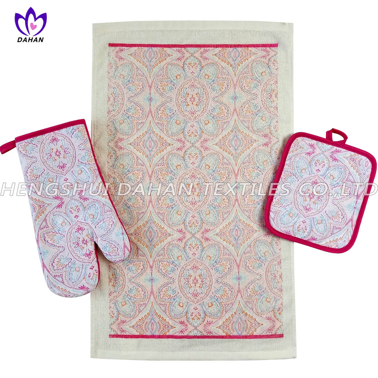 Printing glove,clay pot pad,kitchen towel 3pk AGP70