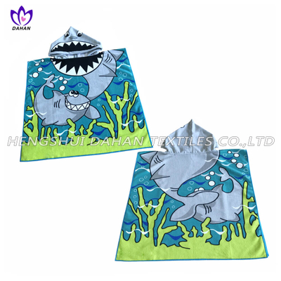 JM8 transfer print microfiber beach towle poncho for kids