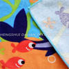 WX102 Microfiber printing beach towel,children's cloak.