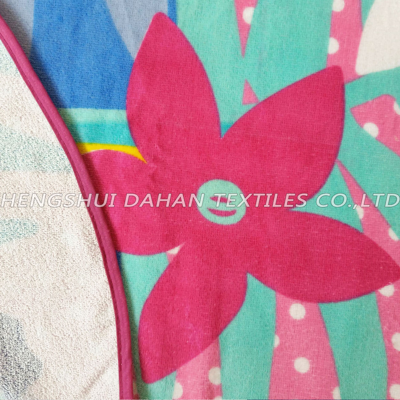 LL72 100%cotton reactive printing beach towel