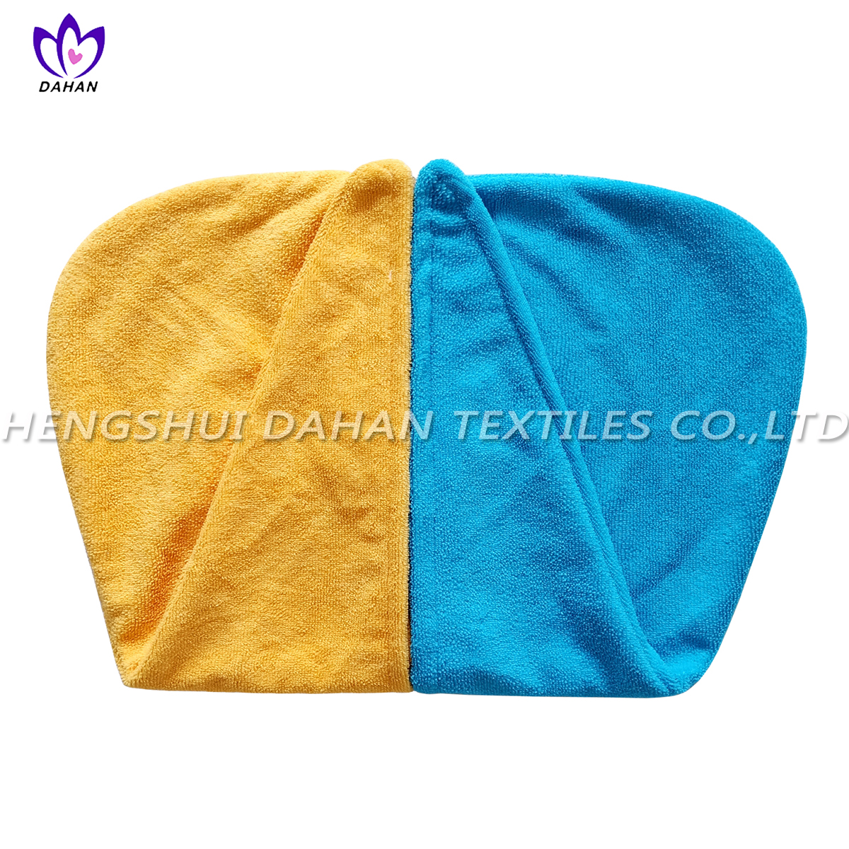 MC103 Microfiber pure color brocade dry hair cap.