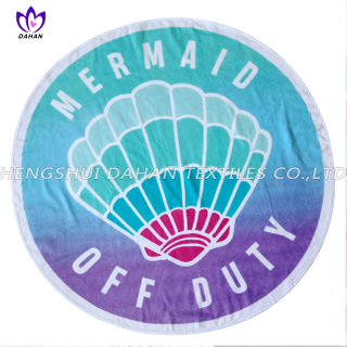 LL73 100%cotton reactive printing beach towel