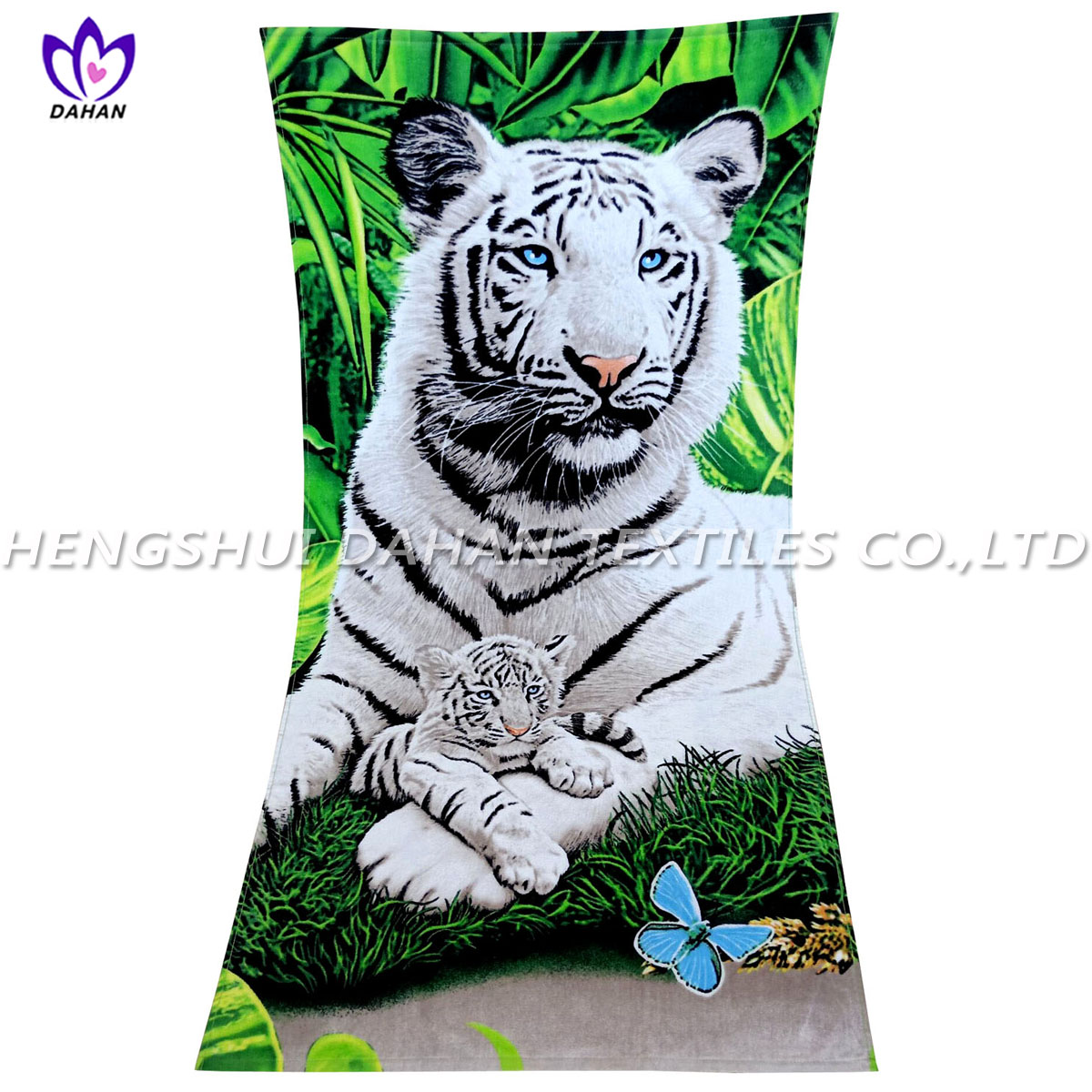 LL27 100%cotton reactive printing beach towel