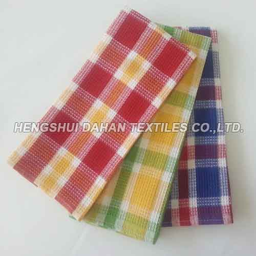 100%cotton yarn dyed classic gird waffle tea towel kitchen towel DY6