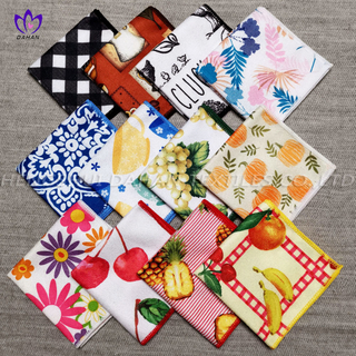 2030 3-Pack Printing+solid color microfiber kitchen towels.