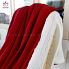 7031 Solid color microfiber Lamb wool blanket.