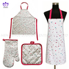 AGP88 Printing cotton twill apron,oven mitt,pot pad,3pack.